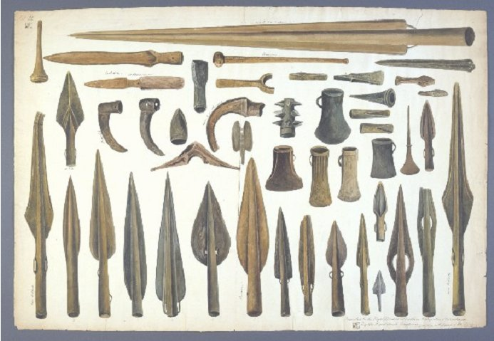 worsaee_drawing_spearheads