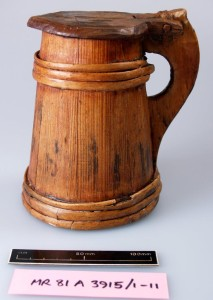 Wooden tankard (81A3915.1-11) - © Mary Rose Trust